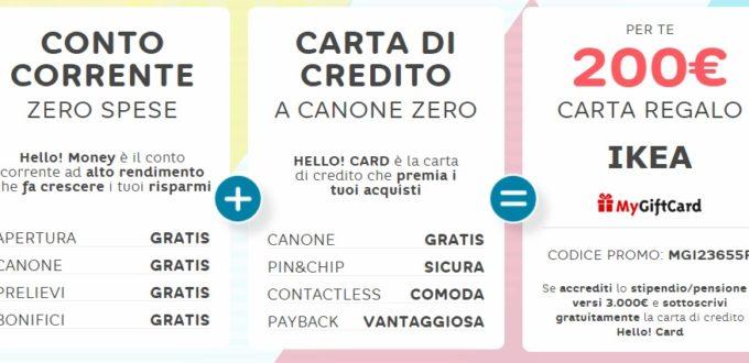 Hello Bank Apri Un Conto E Ricevi Una Carta Regalo Ikea Da 200