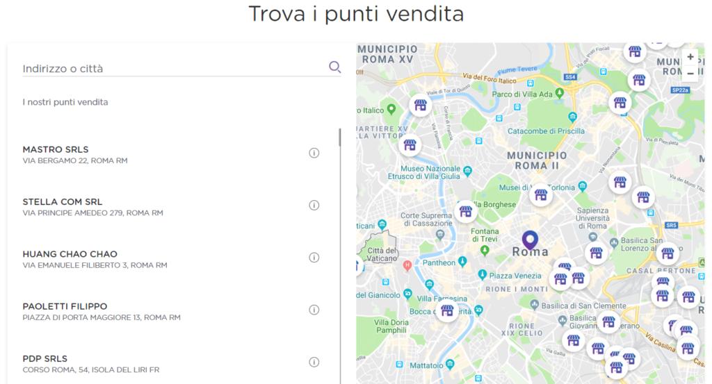 mappa rivendite ho. mobile