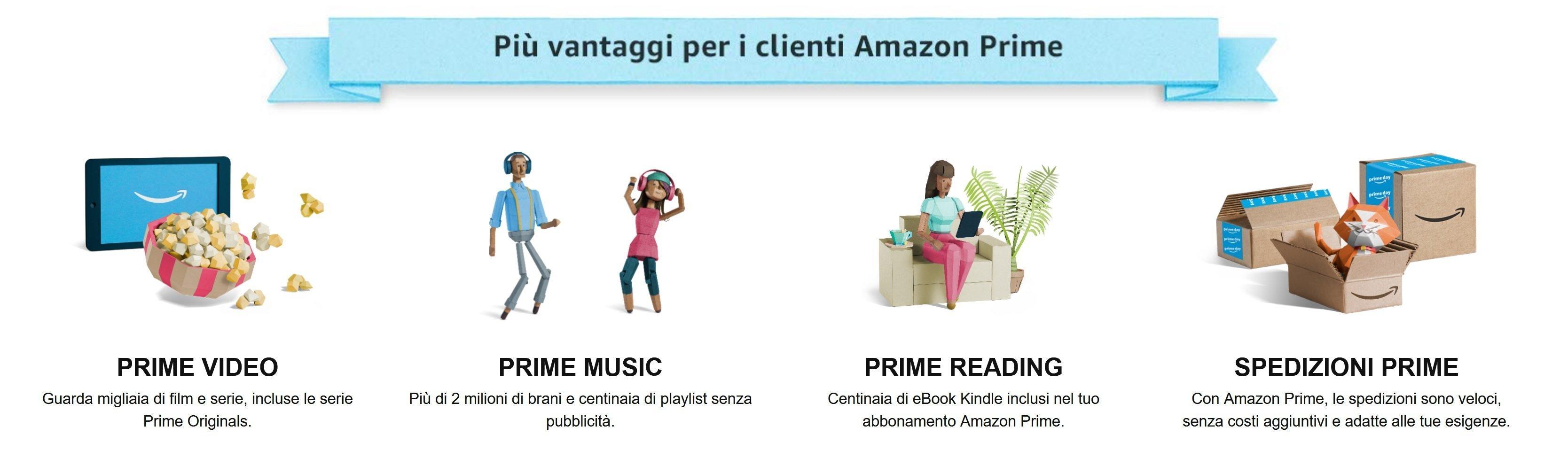 ecco alcuni dei vantaggi offerti da Amazon Prime, imprescindibile per accedere alle offerte dell'amazon prime day 2020