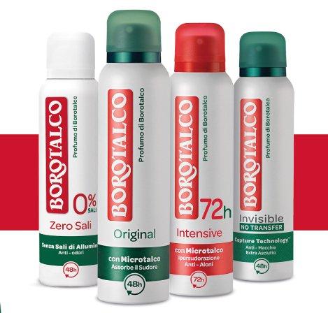 deodoranti borotalco rimborso completo